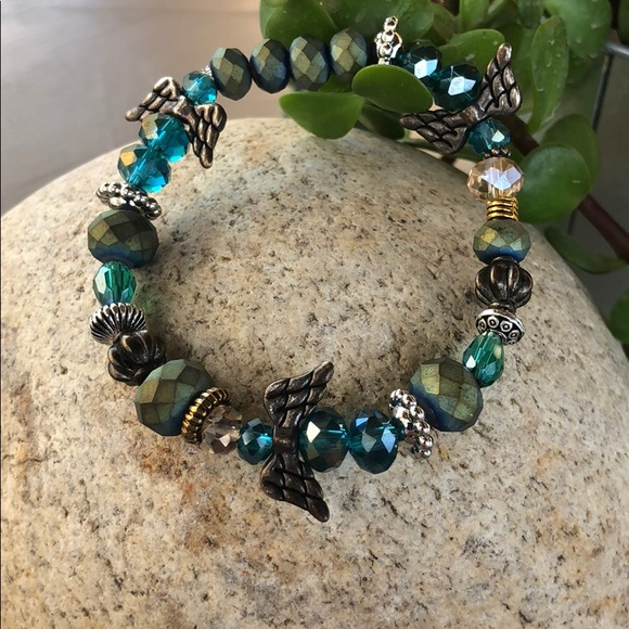 Jewelry Teal Ovarian Cancer Awareness Bracelet Poshmark